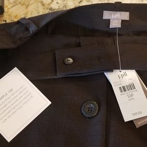 J Jill 10P, NWT, button front wool skirt